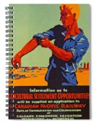 Poster Promoting Emigration To Canada Spiral Notebook