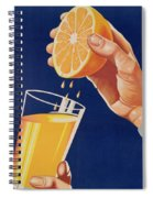 Poster With A Glass Of Orange Juice Spiral Notebook