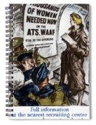 Poster Women Recruit Spiral Notebook
