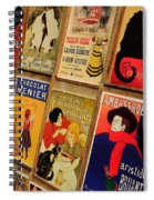 Posters In Paris Spiral Notebook