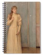 Posthumous Portrait Of Marguerite Landuyt Spiral Notebook