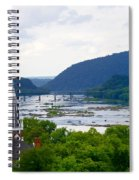 Potomac River At Harpers Ferry Spiral Notebook