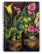 Pots And Flowers Spiral Notebook
