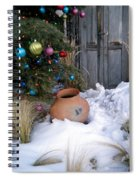 Pottery In Snow At Xmas Spiral Notebook