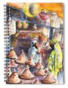 Pottery Seller In Essaouira Spiral Notebook