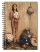Pottery Vendor Spiral Notebook