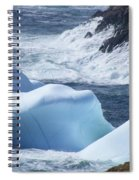 Pounding Surf With Icebergs Spiral Notebook