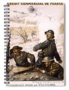 Pour La Victoire - W W 1 - 1918 Spiral Notebook