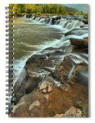 Pouring Through The New River Spiral Notebook