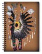 Pow Wow Regalia - Orange Spiral Notebook