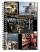 Power Collage Queen Mary Ocean Liner Long Beach Ca 01 Spiral Notebook