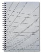 Power Lines Fill The Sky Spiral Notebook