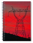Power Lines Just After Sunset Spiral Notebook
