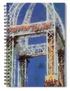 Power Tower Cedar Point Spiral Notebook