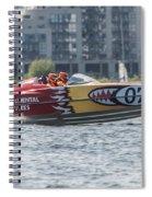 Powerboat 3 Spiral Notebook
