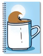 Powered By Coffee Spiral Notebook