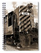 Powerful In Sepia Spiral Notebook