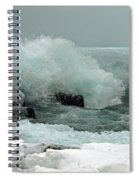 Powerful Winter Surf Spiral Notebook