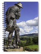 Powis Castle Bagpipper Spiral Notebook