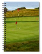 Practice Green At Spanish Bay Detail Spiral Notebook