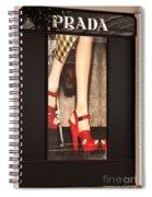 Prada Red Shoes Spiral Notebook