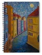 Prague A La Vangogh Spiral Notebook