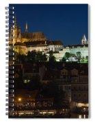Prague  Castle At Night Spiral Notebook