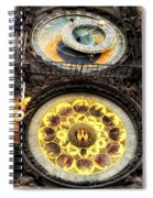 Prague Clock Orloj Spiral Notebook