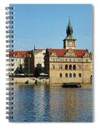 Prague East And Charles Bridge Spiral Notebook
