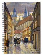 Prague Old Street Stupartska Spiral Notebook