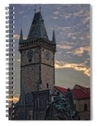 Prague Old Town Hall Spiral Notebook