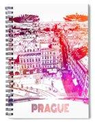 Prague Skyline Panorame Spiral Notebook