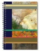Prairie Grasses Amid The Rocks Spiral Notebook