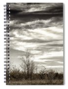 Prairie Winter Sky Spiral Notebook