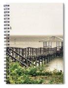 Prange Street Pier Raining Spiral Notebook