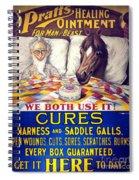 Pratts Healing Ointment Spiral Notebook