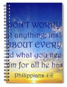 Pray About Everything 1 Spiral Notebook