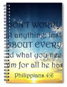 Pray About Everything 2 Spiral Notebook