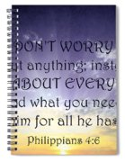 Pray About Everything 3 Spiral Notebook
