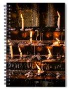 Prayer Candles Spiral Notebook