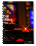 Prayer Candles Trinity Cathedral Pittsburgh Spiral Notebook