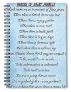 Prayer Of Saint Francis Spiral Notebook