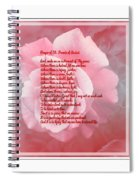 Prayer Of St. Francis And Pink Rose 2 Spiral Notebook
