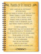 Prayer Of St Francis - Pope Francis Prayer - Gold Parchment Spiral Notebook