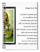 Prayer To St. Dymphna Spiral Notebook