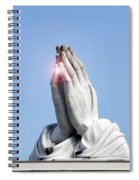 Praying Hands Lens Flare Spiral Notebook