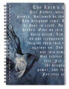 Praying Hands Lords Prayer Spiral Notebook