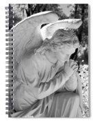 Praying Male Angel Near Infrared Black And White Spiral Notebook