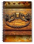 Pre-civil War Bookcase-drawer Pull Spiral Notebook