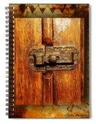 Pre-civil War Bookcase-glass Doors Latch Spiral Notebook